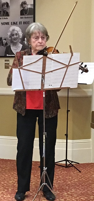 Maxine Spencer on violin